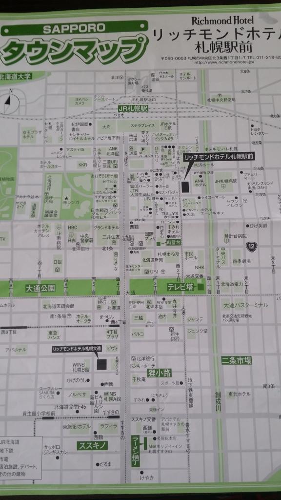 在酒店拿的地圖