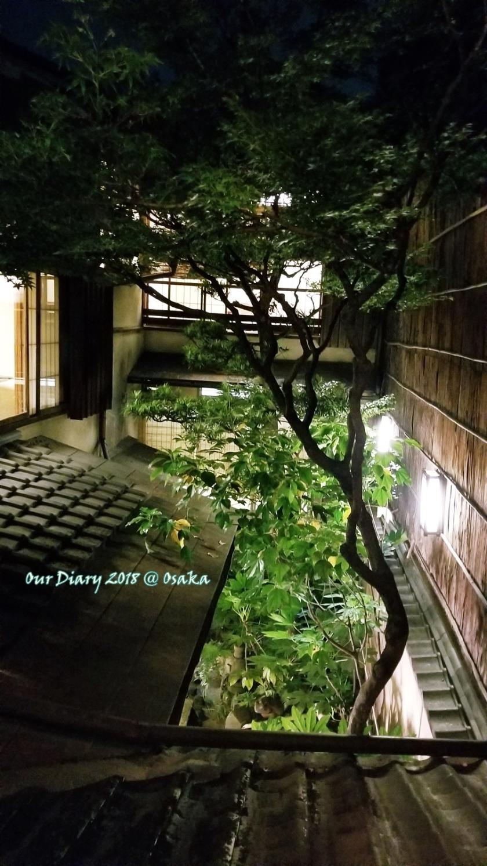 大阪京都遊記 木屋町吃壽喜燒個室窗外風景