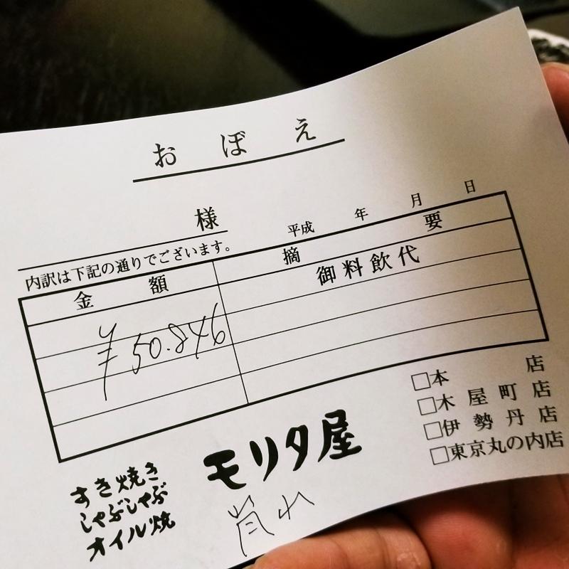 京都木屋町壽喜燒 モリタ屋 價格埋單照片