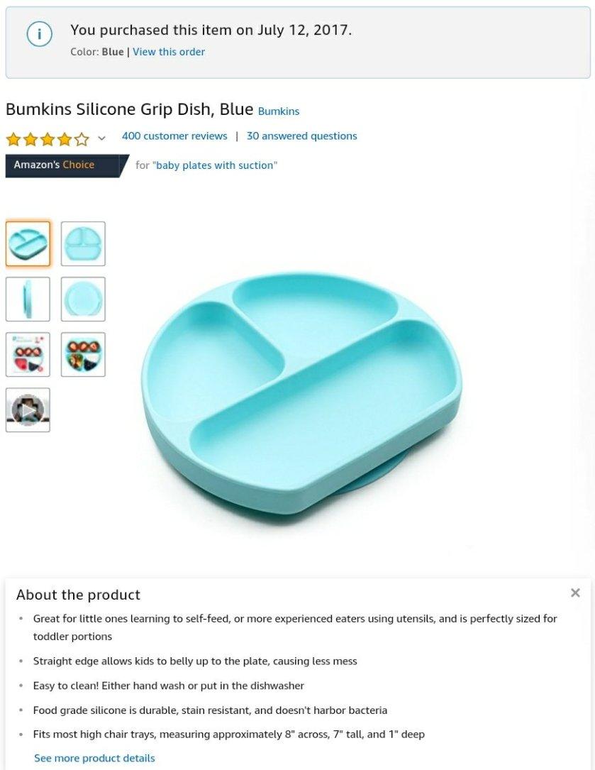 BLW 必備餐碟 Bumpkins Silicone Grip Dish