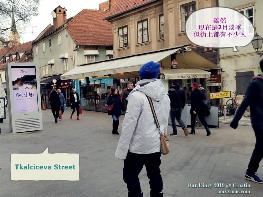 步入Tkalciceva street閒逛