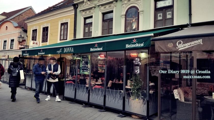 Tkalciceva street at afternoon, in winter