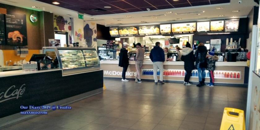 Zagreb 麥當勞吃早餐