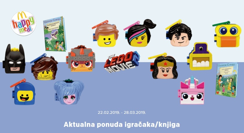 Zagreb McDonald's Toys -- Lego Movie 2